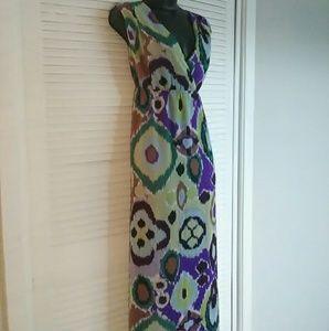 Chico's sz 1.5 (10) multi color maxi dress